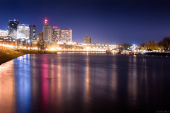 St. Paul Reflections (relux.) Tags: longexposure water minnesota skyline night reflections cityscape stpaul