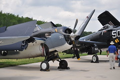 DSC_8145 (pak152) Tags: catalina jeep b17 mosquito corsair spitfire mitchell mustang wildcat warbirds reenactors paratroopers albatross at6 commando flyingtigers fokker fw190 dehavilland avenger b25 c46 p40 triplane nieuport halberstadt ju52 88mm sopwithcamel yak9 helldiver skyraider polikarpov p39 i16 avro504 fokkerdri peashooter p26 airacobra fw190d brenguncarrier hawkerhind tuskegeeairman dehavillandrapide militaryaviationmuseum wingsoverthebeach messerschmidttaifun