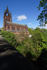 Kelvin Memorial Church (gbarr) Tags: sunshine river glasgow wideangle kelvin