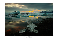 Ice sunset (Emmanuel DEPARIS) Tags: sea landscape island nikon north iceberg emmanuel icelande deparis