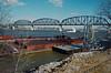 88a018: unloading barges at Ashland asphalt terminal