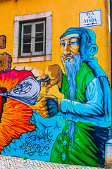The Alchemist on Vineyard Street (Pauls-Pictures) Tags: street city urban color colour art portugal wall painting photography graffiti vineyard bright photos lisbon streetphotography da vinha rua alchemy photograhy streetphotos streetpics streetphotograhy streetpictures