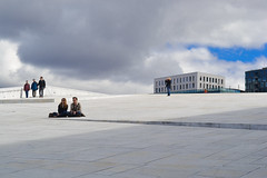 Oslo|9 (Simone.Oliva) Tags: wood blue sea sky white house black color oslo norway museum architecture photography opera folk norvegia museet operahuset fearnley astrup nasjonal
