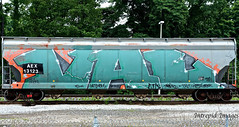 VAL (INTREPID IMAGES) Tags: street railroad streetart color art car train bench graffiti fan paint steel painted sony graf tracks rail railway trains tags images whole val railcar intrepid writer boxcar graff hopper aex freight rolling gr8 paintedtrains fr8 13123 benching intrepidimages