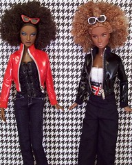 Female Trouble (partymonstrrrr) Tags: red white black fashion toy toys doll dolls nikki leah barbie basics royalty fever integrity janay rupaul topmodel glamazon fashionroyalty fashionfever integritytoys studioit