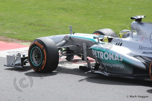 Nico Rosberg in Free Practice 3 at the 2013 British Grand Prix