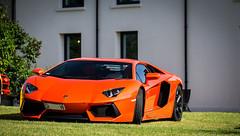 Aventador (ExoticCarsParis) Tags: auto orange black france car sport race 5 sony voiture rims lamborghini rare supercar nex aventador