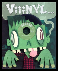 Vinyl Zombie (Custom Paper Toys) Tags: sculpture art paper design zombie character vinyl record limited edition papercraft papertoy