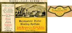 Bernkasteler Doctor 1979 (Mosel) (roger4336) Tags: river germany deutschland wine label doctor 1979 mosel wein rheinlandpfalz moselle bernkastel doktor etikett bernkastelerdoctor berncastelerdoctor