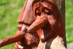 Pinocchio? (cicciobaudo) Tags: canon eos pinocchio viso trentino legno naso scultura volto canali malga 400d