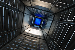 Inside the Chrome Tower (Torsten Reimer) Tags: nyc newyorkcity blue friedhof usa newyork abstract cemetery brooklyn unitedstates greenwoodcemetery unitedstatesofamerica chrome northamerica