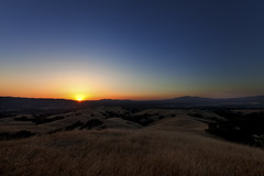 California Gold (Seth Benson) Tags: california sunset canon gold golden mt angle mark hill wide hills ii 5d diablo pleasanton