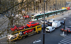 Private transport vs public transport (Amsterdam RAIL) Tags: paris traffic transport tram camion t3 mito publictransport circulation alstom alfaromeo tramway ratp tramvaj tranvia tramvia vaugirard citadis boulevardvictor t3a poidlourd transportspubliques