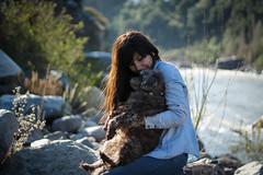 Yo y el gordo Jack. (natalielafuente) Tags: chile santiago dog naturaleza animal rio del jack amor bonito rico perro lover cajon maipo sudamerica chiquitito doglover waton
