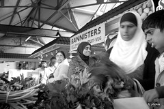 Shoppers (Frank Downes) Tags: england bw markets bolton foveon dp1