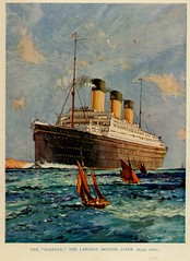 The Majestic Largest British Liner abt 1920 (janwillemsen) Tags: majestic 1920 starliner bookillustration