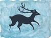 deer, watercolor wash (handsforholding) Tags: original silhouette illustration deer papercut