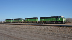 Green Machines (Missabe Road) Tags: bn bnsf sd60m 8118 grandrapidslocal