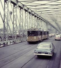 Once upon a time - The Netherlands - Rotterdam (railasia) Tags: bridge holland allan rotterdam ret sixties vintagecars losttrack lostline traminfra motorcartrailer