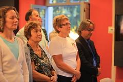 Letitia Blake, Andreina Millozzi, Christine English and Servivgliano mayor