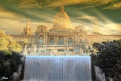 Montjuic. Fachada del MNAC ( Museo Nacional de Arte Contemporaneo  ) Barcelona. (franma65) Tags: