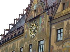 Astronomical clock from Ulm Town Hall. (Hada de Azúcar) Tags: germany deutschland townhall rathaus ulm astronomicalclock astronomischeuhr ulmerrathaus earlyrenaissancefaçade