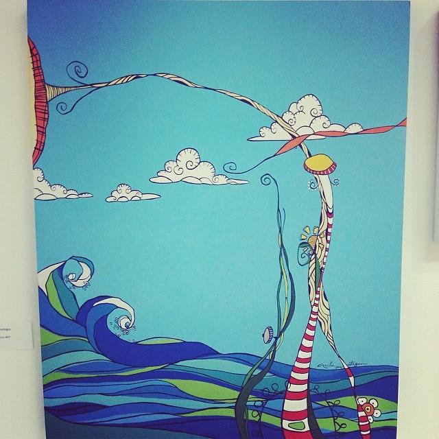 """""""Eureka"""" de Anilú Aróstegui $900 •  • Bazarte #bazarte #arteenlima #artinlima #arte #art #artist #artista #pintura #painting"""