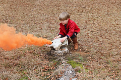 Carson Conjuring up something (babyfella2007) Tags: pictures christmas blue school winter boy orange playing jason sc cooking face yard bug carson children skull monkey cow hall iron child photos grant smoke south mary pot kettle taylor lou carolina timeline bomb beaufort memaw saluda batesburg chilrend