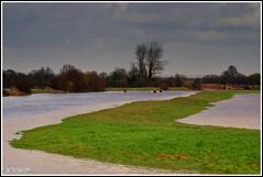 Fun in the floods (KVH-P) Tags: bridge water grass clouds landscape sussex canoes paths eastsussex floods southdowns alfriston leefilters sussexlandscape d7000 nikond7000