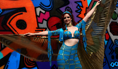 Urb13 (Nico Nelson) Tags: urban beautiful cane graffiti dance graphic bright graf sydney may australia dancer lane strong fifi graceful bold raqs baladi lithe sharki freewall urbaladi