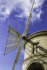 Ladder to the Skies (bretton98) Tags: uk blue sky windmill architecture rural nopeople historical ladder warwickshire artisan gradeiilisted chestertonmill canon7d bretton98 davidwhitephotography