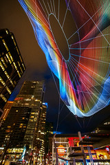 Skies Painted with Unnumbered Sparks by Janet Echelman () Tags: lighting sculpture ted canada vancouver artwork britishcolumbia conference canadaplace 2014 vancouverconventioncentre janetechelman microfourthirds olympusomdem5 panasoniclumixgvario714mmf40 ted2014 ted2014conference skiespaintedwithunnumberedsparks