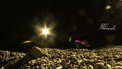 Aperture is my priority (yi15922) Tags: light beach night rocks pebbles ilobsterit scorpyioncorporation yichenphotography