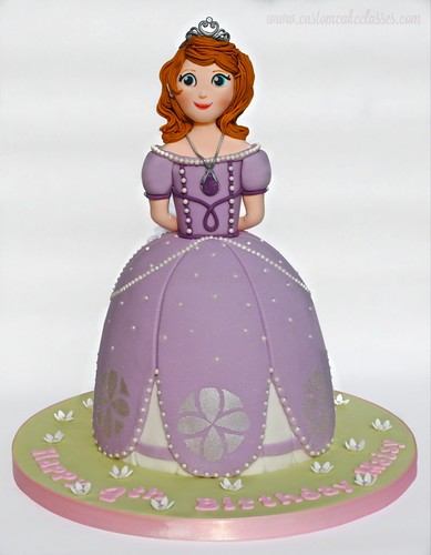 Surprising Princess Sofia The First Birthday Cake A Photo On Flickriver Personalised Birthday Cards Paralily Jamesorg