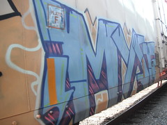 Cryo Myst POS ANT (SounderSix) Tags: railroad art train bench graffiti ant graff trans freight boxcars pos myst reefers cryo benching