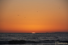 Sunset (Haxtorm) Tags: california sunset sky people usa cloud sun beach losangeles sand santamonica wave