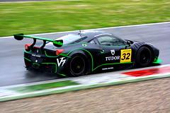 ferrari 458 italia (andrea carlessi) Tags: verde italia ferrari e pioggia nera monza circuito 458