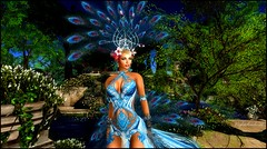 Blue Feathers (* NightHawk24 *) Tags: model dress feathers sl secondlife virtual harmony utopia virtualworld 2df