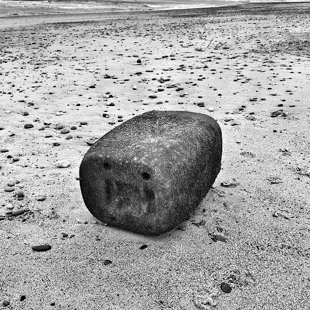 Beach debris Porth Neigwl #cymru #wales #surreal42 #blackandwhite