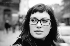 street portrait bw woman face manchester 50mm glasses sweet rue lunettes visage