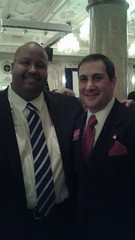 Congressional candidate Joe Kaufman with Vice Chairman of the Palm Beach Republican Party Mike Barnett