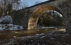 ...the sunlit crescent... (jamesmerecki) Tags: sunlit crescent bridge stone arch railroad thestonearchbridge keene nh newhampshire winter newengland sun rays le longexposure stones