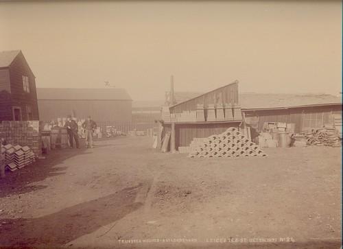 Frederick William Hughes, builders' merchant, Leicester Street yard - 1891