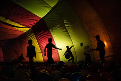 In Balloon (Tavepong Pratoomwong) Tags: streetphoto thailand tavepong kids color balloon play red yellow shadow chiangrai fun ball silhouettes