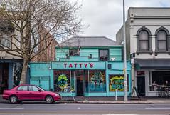 Tatty's (Mike_Mulcahy) Tags: tattys leica m8 summarit 35mm street auckland nz newzealand ponsonby pink cyan blue colours manualfocus