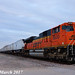 3/3 BNSF 8530 Leads WB Intermodal Wellsville, KS 3-10-17