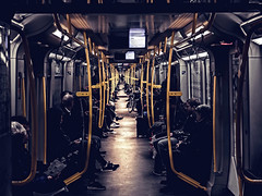 Underground scene (The Ultimate Photographer) Tags: berlin underground tube germany peace transport yellow train bike streetphotography olympus em1 omd