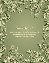 Elegant green pattern vevtor background (vectorbackground) Tags: abstract green art classic floral fashion design lace decorative background label border invitation card gift frame charming elegant decor brochure greeting luxury businesscard element elegance designbackground luxurybackground