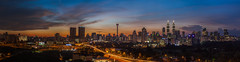 KL City: Blue hour (Hafidz Abdul Kadir) Tags: street new travel blue light sunset red vacation sky urban panorama cloud sun motion blur tower yellow skyline architecture night speed skyscraper sunrise canon buildings landscape outdoors photography corporate lights evening town twilight construction highway scenery asia downtown cityscape view traffic contemporary transport magenta landmark aerial illuminated east business commercial transportation malaysia slowshutter getty wa destination 5d metropolis tall bluehour kuala kualalumpur financial metropolitan goldenhour scapes gettyimages twop 1740f4 greatphotographers 5dmark2