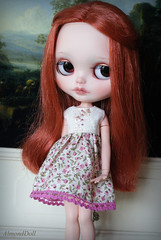 Maud in Pink Roses dress